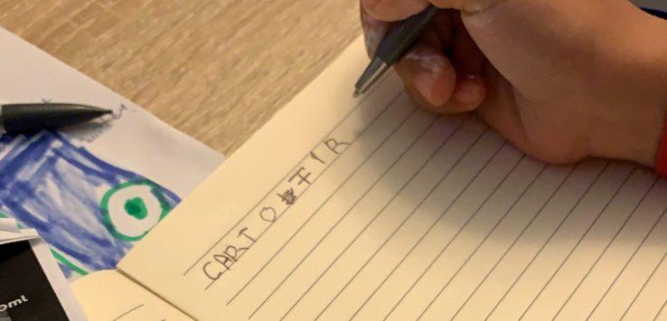 darius, cuvinte, scris, caiet